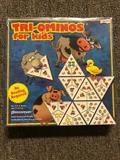 Pressman Triominos for Kids Two-Ominos Learning Domino Picture Game New Sealed