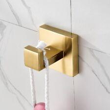 European Gold Brushed Bathroom Robe Hooks Wall Mounted Coat Hooks Clothes Hooks