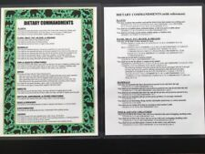 DIETARY COMMANDMENTS LAMINATED PRINTS - Torah Dietary Commands with References