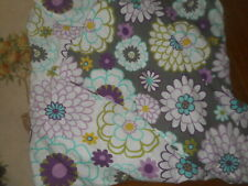 POTTERY BARN  TEEN  FULL/QUEEN   DUVET  COVER  REVERSIBLE  FLORAL  COTTON
