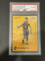 2019-20 Panini NBA Hoops Arriving Now  De'Andre Hunter #14 PSA 10 Rookie