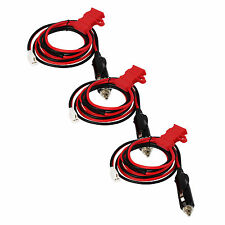 3Pcs12V Power Cord Cable Cigarette lighter Plug for Kenwood YAESU ICOM Car Radio