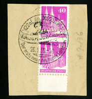 Germany Stamps # 651 Rare used imperf error on piece