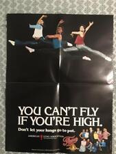 VINTAGE Marijuana War On Drugs 1984 FAME Movie Poster 17x22 American Lung Assn