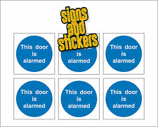 Esta puerta está alarmado - 76mm X 76mm-Paquete de 6 Pegatinas