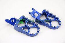 Pedane maggiorate BLU ergal CNC alluminio KAWASAKI KXF450 KX450F KXF 450 07-18