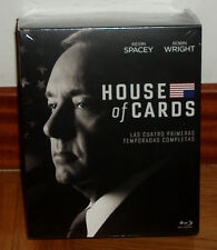 HOUSE OF CARDS 1-4 SEASONS COMPLETE 16 BLU-RAY NEW SEALED (UNOPENED)