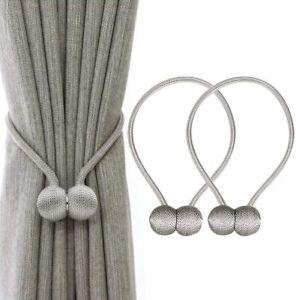 2Pack Magnetic Curtain Tiebacks Holdbacks Buckle Clips Tie backs for Home decor