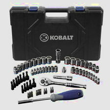 "KOBALT 63-Piece Standard/Metric Mechanics Tool Set with Case 1/4"" & 3/8"" Drive"