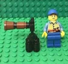 Lego MOC Tourist Photographer W/ Tripod Long Lens Camera / binocular Telescope