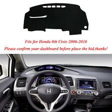 For Honda 8th Civic 2006-2010 Dash Cover Dashmat Dashboard Mat Anti-UV Dust Mat