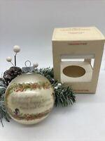 Vintage Hallmark Grandmother Christmas Glass Ornament Bulb Ball Holiday 1979
