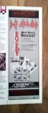 DEF LEPPARD Rocket UK Press ADVERT 11x4 inches