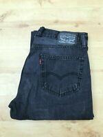 Men's Levi's 505 Straight Leg Black Jeans W34 L32 (#A765)