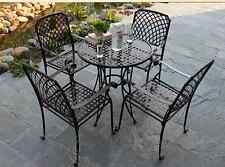 INDOOR OUTDOOR TABLE CHAIRS PATIO SETTING Metal Garden Balcony Cafe Black Square