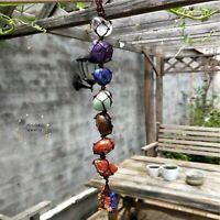 7 Chakra Tumbled Gemstone Tassel | Healing Crystals and Stones Gift Set 7 Chakra