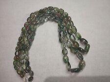 Tourmaline Bi-Colour Gemstone 2 Strand Natural Oval Smooth Beads 174cts App Lot