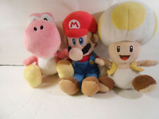 Set of 3 Mario, Yoshi and Toad Plush Dolls