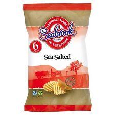 Seabrook Crinkle Cut Sea Salted Potato Crisps 6 x 25g - Sold Worldwide From UK