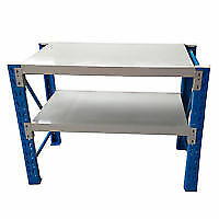 200x60x90cm Metal Steel Workbench Workshop Shelving Warehouse Stand Work Bench