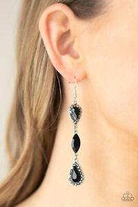 Paparazzi ~ Test of TIMELESS BLACK Rhinestone Earrings ~ 💎NEW RELEASE 2021💎