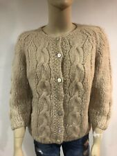 Vintage Famelia Wool Blend Sweater Womens Handmade In Italy Size 40