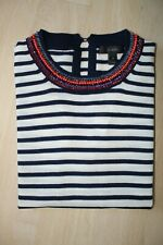 J.Crew Beaded Tippi Striped Sweater Merino Wool Size XS     NWT