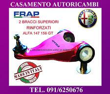 SET 2 BRACCI OSCILLANTI TRAPEZI SUPERIORI RINFORZATI FRAP ALFA ROMEO 147 156 GT