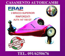 KIT 2 BRACCI OSCILLANTI TRAPEZI SUPERIORI RINFORZATI FRAP ALFA ROMEO 147 156 GT