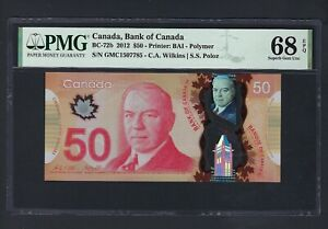 Canada 50 Dollars 2012 BC-72b Uncirculated Grade 68