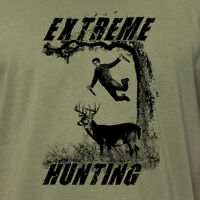 EXTREME HUNTING funny outdoors nature deer hunting season gift daredevil T-Shirt