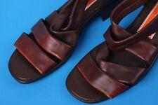 ☆Damen/Mädchen SANDALEN Schuhe☆ECHT LEDER☆Gr.36 cognac-braun☆Halbschuhe☆w. NEU☆