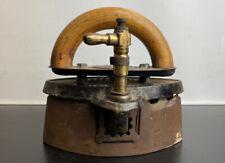 "Antique English Made ""Otto"" Gas Smoothing Flat Iron Circa 1890 Patent 226721-24"
