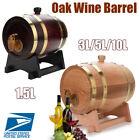 1.5L/3L/5L/10L Vintage Wood Oak Timber Wine Barrel For Beer Whiskey Rum Port Keg