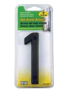 Hy-Ko BR-420WB 4 in. Bronze Brass Nail-On Number