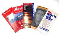 Lot of 5 AIRLINE TIMETABLE's