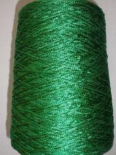 CHAINETTE 1000 YPP KELLY GREEN RAYON FINGERING CONE YARN 1 LB 2 OZ (CH4)