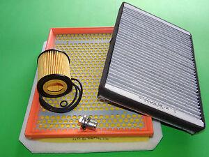 Ölfilter Luftfilter Aktivkohle Pollenfilter für Opel Astra H 1.9 CDTI (74-110kW)