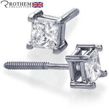 14 Carat Excellent Cut White Gold Fine Diamond Earrings