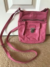 Oasis Pink Leather Cross Body Bag Small Size With Purse