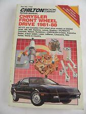 Chilton Chrysler Front Wheel Drive 1981-88 Repair Manual Book 7163