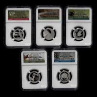 2015 S Clad Mint Proof Set of Quarters ATB National Park ~ NGC Proof 69 ER