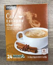 24 Cafe Escapes Chai Latte Keurig Cups. 1 Box