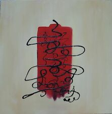 80cm x 80cm handgemaltes Canvas Öl Bild Gemälde aufgespannt auf Holz Keilrahmen