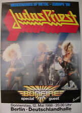 Judas Priest Concert Tour Poster 1988 Ram It Down
