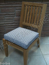 Frontgate Deluxe Double Piped Replacement Small Chair cushion Michele Cobalt