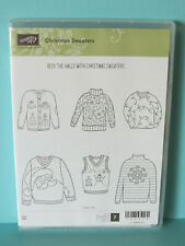NEW Stampin Up Christmas Sweaters Ugly Sweatshirt vest santa snowman RETIRED
