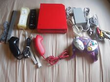 Nintendo Wii Red Limited Edition Console W/2 Remotes Gamecube  remotes