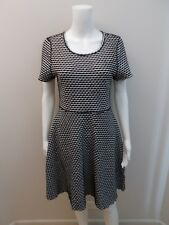 METALICUS BLACK/WHITE DRESS NEAR NEW- SIZE M-L=10/12  (#J80)