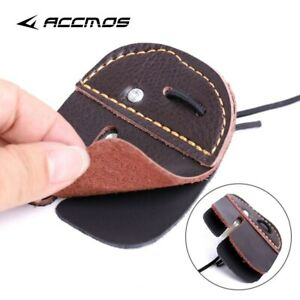 Archery Mediterranean Finger Guard Thick Leather Bow Straight Finger Tab